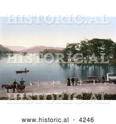 Historical Photochrom of Bowness-on-Windermere, Windermere in South Lakeland, Cumbria, England, United Kingdom by Al