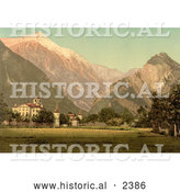 Historical Photochrom of Chateau De Werra in Switzerland by Al