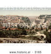 Historical Photochrom of Constantine, Algeria by Al