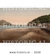 Historical Photochrom of Donostia-San Sebastian on the Bay of Biscay, Spain by Al