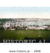 Historical Photochrom of Falmouth, Cornwall, England, United Kingdom by Al