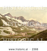Historical Photochrom of Furka Pass in Switzerland by Al