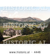 Historical Photochrom of Grasmere Cumbria England United Kingdom by Al