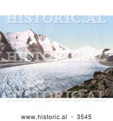 Historical Photochrom of Grossglockner Mountain and Johannisberg in Carinthia by Al