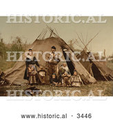 Historical Photochrom of Lapp Family, Norway by Al