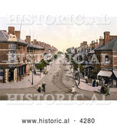Historical Photochrom of Lumley Road in Skegness, East Lindsey, Lincolnshire, England, United Kingdom by Al