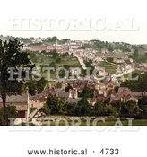 Historical Photochrom of Matlock Bank Derbyshire England by Al