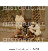 Historical Photochrom of Men Playing Chess by Al