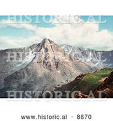Historical Photochrom of Mount of the Holy Cross in the Sawatch Range, Rocky Mountains, Colorado by Al