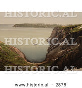 Historical Photochrom of North Cape, Norway by Al