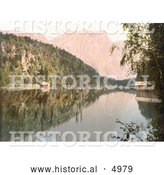 Historical Photochrom of Oetz Valley, Pipurgersee (Pipurger See) and Acherkogel, Tyrol, Austria by Al