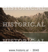 Historical Photochrom of Opstigningen Til Nordkap, Hornviken, Norway by Al