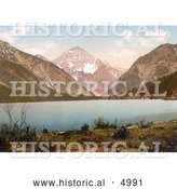 Historical Photochrom of Plansee Lake in Tyrol, Austria by Al