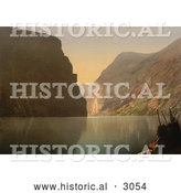 Historical Photochrom of Praekestolen, Geirangerfjord by Al