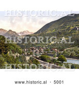 Historical Photochrom of Rosengarten, Tyrol, Austria by Al