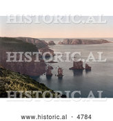 Historical Photochrom of Sark, Les Autelets, Channel Islands, England by Al
