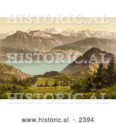 Historical Photochrom of Scheidegg Switzerland by Al