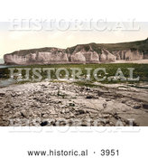 Historical Photochrom of Silex Bay in Yorkshire England UK by Al