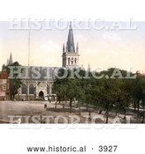 Historical Photochrom of St Peter's Church in Yarmouth Norfolk England UK by Al