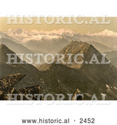 Historical Photochrom of Swiss Alps, Switzerland by Al