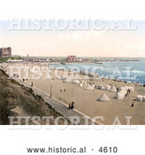 Historical Photochrom of Tents on the Beach in Gorleston Norfolk England by Al