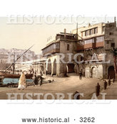 Historical Photochrom of the Admiralty, Algiers, Algeria by Al