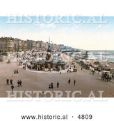 Historical Photochrom of the Aquarium and Clock Tower in Brighton East Sussex England UK by Al