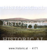 Historical Photochrom of the Bay and Village of Swanage Isle of Purbeck Dorset England UK by Al