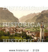 Historical Photochrom of the City of Altdorf in Swtizerland by Al