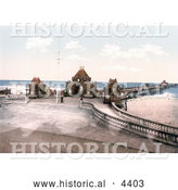 Historical Photochrom of the Entrance to the Pier in Skegness, England, United Kingdom by Al