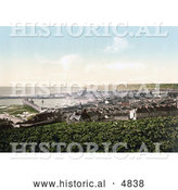 Historical Photochrom of the Harbour in the City of Penzance, Cornwall, England, United Kingdom by Al