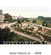 Historical Photochrom of the Harrogate Stray in North Yorkshire England by Al