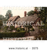 Historical Photochrom of the Historical Ann Hathaway's Cottage in Shottery Stratford-On-Avon Warwickshire England UK by Al