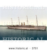 Historical Photochrom of the Kaiser Wilhlem II Ship by Al