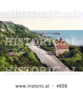 Historical Photochrom of the Lower Sandgate Road in Folkestone Kent England by Al