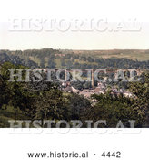Historical Photochrom of the Lydbrook Viaduct Forest of Dean Gloucestershire England UK by Al