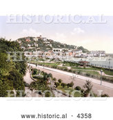 Historical Photochrom of the Princess Gardens Along the Seafront in Torquay, Devon, England, United Kingdom by Al