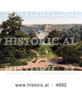 Historical Photochrom of the River Avon As Seen from Clifton Downs, Bristol, England by Al