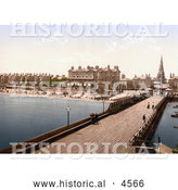 Historical Photochrom of the Royal Hotel on the Beach near the Pier in Lowestoft Suffolk East Anglia England UK by Al