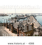 Historical Photochrom of the Royal Pier in Southampton, England by Al