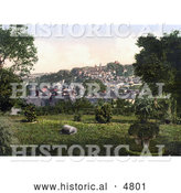 Historical Photochrom of the Town of Launceston Cornwall England United Kingdom by Al