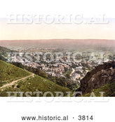Historical Photochrom of the Town of Malvern in Worcestershire England UK by Al