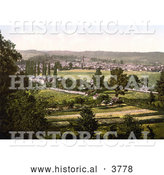 Historical Photochrom of the Town of Monmouth Wales Monmouthshire England UK by Al