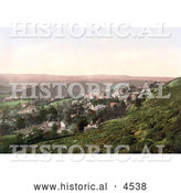 Historical Photochrom of the Vilage of West Malvern Malvern Hills Worcestershire England by Al