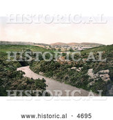 Historical Photochrom of the Village of Cromer Norfolk England by Al