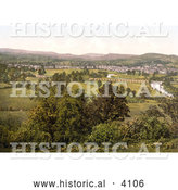 Historical Photochrom of the Village of Monmouth Wales Monmouthshire England UK by Al