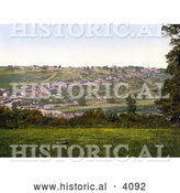 Historical Photochrom of the Village of Torrington Devon England UK by Al