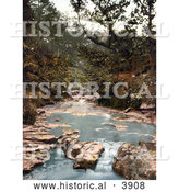 Historical Photochrom of the Water in Hayburn Wyke Scarborough North Yorkshire England UK by Al