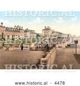 Historical Photochrom of the Waterfront Park and Promenade in Lowestoft Suffolk East Anglia England UK by Al