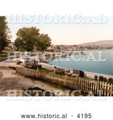 Historical Photochrom of the Waterfront Promenade in Swanage Isle of Purbeck Dorset England UK by Al
